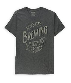 Sonoma Life+Style Mens American Brewing Graphic T-Shirt Charcoal L