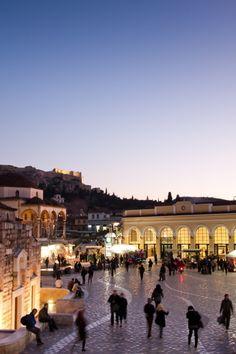 Het plein Monastiraki in #Athene