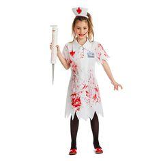 Disfraz de Enfermera Niña Zombie #disfraces #carnaval #novedades2016