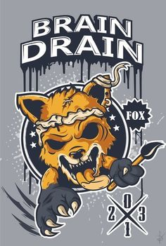 BRAIN DRAIN FOX on Behance