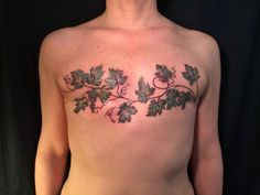 Grapevines - Masquage d'une mastectomie post cancer du sein.
