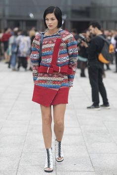 KENZO. Best Street Style Paris Fashion Week Spring 2014 | Pictures #streetstyle #fashion #chic #pfw #ss15