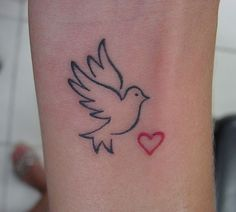 Dove and flag tattoo designs stand for peace that the wearer wishes to see all around the world. Description from create-tattoos.com. I searched for this on bing.com/images