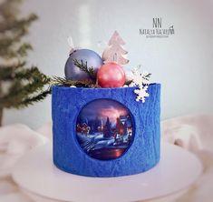 Нет описания фото. Christmas Log, Christmas Night, Christmas Treats, Christmas Baking, Holiday Cakes, Holiday Desserts, Haloween Cakes, Baking Basket, Beautiful Birthday Cakes
