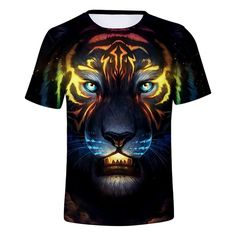 8dff3f35ed3f 2018 New Tiger Printed 3D T-Shirt. Mens FashionFashion ...