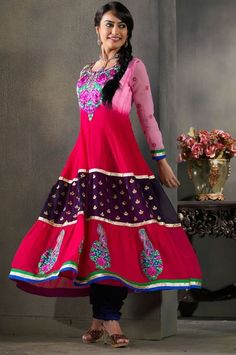 Surbhi Jyoti Modeling Anarkali Suits