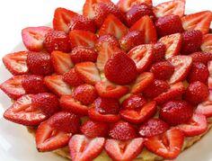 Mostachón de frutillas (fresas)