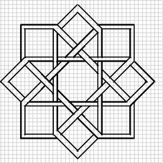 "drawing of a ""plaiting-work"" design. knotwork designs for blackwork"