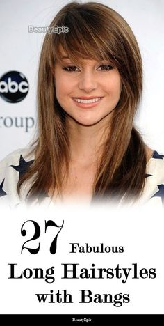 27 Fabulous Long Hairstyles with Bangs That Look Amazing On Everyone Long Hair With Bangs And Layers, Curls For Long Hair, How To Curl Short Hair, Short Hair Updo, Haircuts For Long Hair, Long Bob Hairstyles, Long Layered Hair, Long Hair Cuts, Layered Cuts