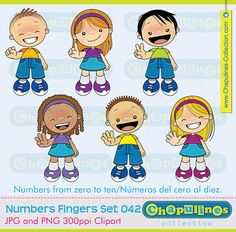 Numbers with fingers  0 to 10  zero to ten by ChapulinesCollection