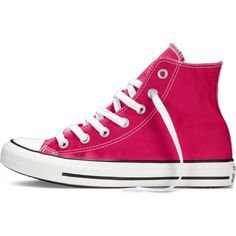 Converse Chuck Taylor All Star Fresh Colors – pink Sneakers featuring polyvore, women's fashion, shoes, sneakers, high top trainers, high top shoes, pink high top shoes, converse trainers and pink sneakers