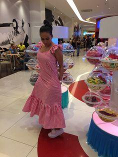 Vestido largo a rayas#verano#diseños invaquero