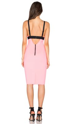 MILLY Tech Cut Out Bralette Dress in Fluo Candy   REVOLVE