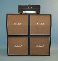 1973 Marshall Super Lead 100 & full stack w/angled top cab. ...how many thousands of these do you think they sold? Go ahead, I'll wait. ...Ok, now multiply by 10!! --RC