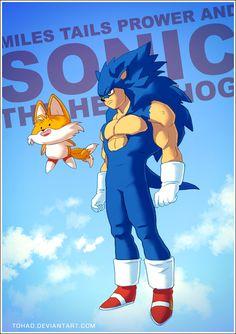 """Sonic se transforme en """"presque-végéta"""" #sega #sonic #art #badass"""