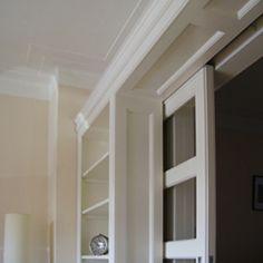 Kamer en suite met apothekerskasten keuken pinterest deuren kasten en schuifdeuren - Scheiden een kamer door een gordijn ...