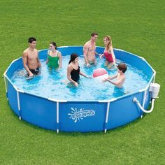 Above Ground Pool 12' With Metal Frame & Filter Pump Swimming Pool Set New Blue #1