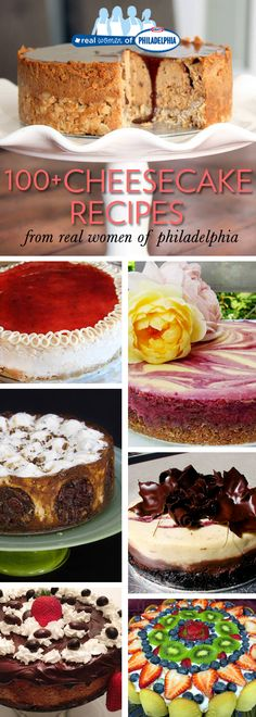 100-plus Cheesecake Recipes from Real Women of Philadelphia members #dessert