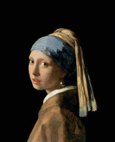 digitaler Kunstdruck, individuelle Kunstkarte: Jan Vermeer van Delft, Das Mädchen mit dem Perlenohrring, c.1665-6