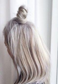 White + Short + Half Up Half down + Top Knot Bun