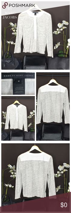 😳❤️ MARC BY MARC JACOBS BASEBALL TOP MARC BY MARC JACOBS BASEBALL TOP. Color: Heather Grey/Cream. Size: Medium. Condition: Excellent. Marc by Marc Jacobs Tops