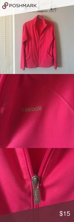Pink Medium Reebok Zipper-Up Lightly worn   Reebok   Medium   Zipper-Up Reebok Jackets & Coats