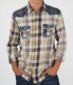 Roar Hands On Shirt has amazing denim yokes with embroidery accent details.