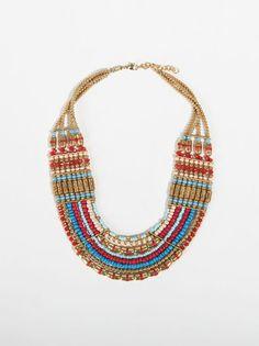 Red Sea  Necklace, Bright Multicolor, hi-res