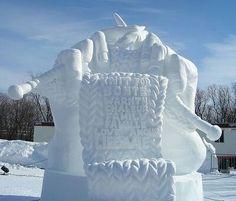 Scultura di neve