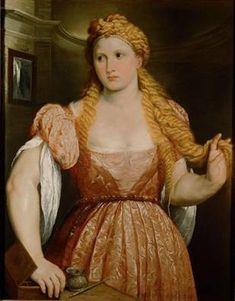A Young Woman,  ca. 1550   (Paris Bordone) (1500-1571)   Kunsthistorisches Museum, Wien   GG_16