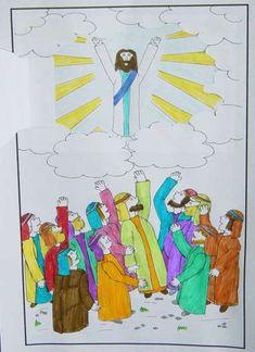 hemelvaart wolk schuift voor Jezus. www.gelovenisleuk.nl