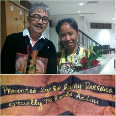 I got present from the most gorgeous designer in Indonesia, Harry Darsono.