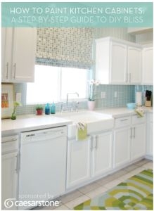 How To Paint Kitchen Cabinets DIY Project
