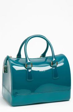 Rubber? Weird, but guess it would be great on a rainy day!  Furla 'Candy' Rubber Satchel available at #Nordstrom