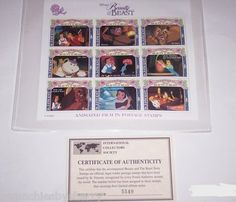 The Disney Animated Film in Postage Stamps Beauty & the Beast St. Vincent