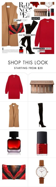 """""""Fall fashion-street style"""" by cly88 ❤ liked on Polyvore featuring MM6 Maison Margiela, Urban Decay, Alexander Wang, The Collection by Phuong Dang, Smashbox, NARS Cosmetics, Elena Ghisellini and Olivia Burton"""