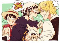 Luffy, Law and Sanji.Ü