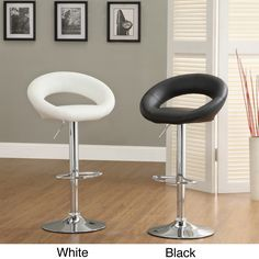 Comes in gray Incorporate smooth, adjustable style into your bar or kitchen with the eye-catching Yoli swivel stool. This chrome-plated metal stool easily swivels and comes with an contemporary circular seat.