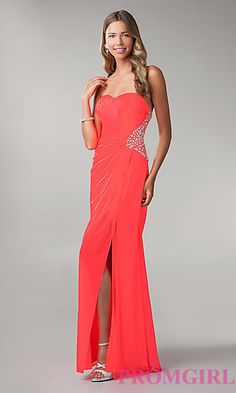 Strapless Open Back Prom Dress by Morgan at PromGirl.com