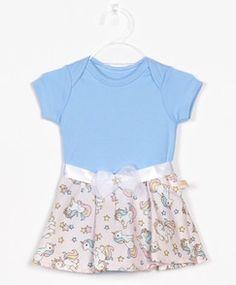 Bebês - Ofertas em Roupas - Dinda - Dinda.com.br. Body Vestido Bebê Azul ... 42dd89e4d246