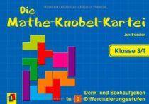 Die Mathe-Knobel-Kartei - Klasse 3/4: Denk- und Sachaufgaben in 3 Differenzierungsstufen