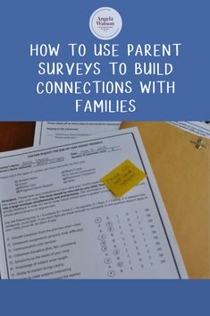 How to use parent surveys to build connections with families Classroom Routines, Classroom Management Strategies, Classroom Procedures, Classroom Fun, Teaching Strategies, Teaching Tips, Classroom Organization, Classroom Labels, Christian Parenting Books