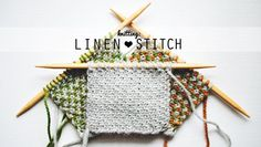 Linen stitch knitting tutorial