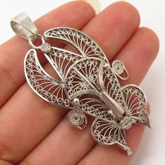Your place to buy and sell all things handmade Big Jewelry, Jewlery, Vintage Jewelry, Filigree Jewelry, Silver Jewelry, Machine Design, Mask Design, Pendants, Training
