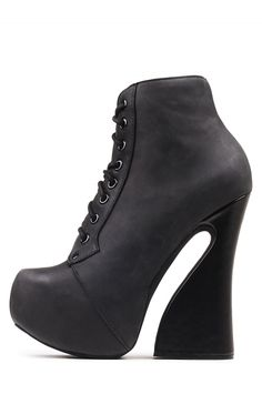 Jeffrey Campbell Shoes CARITA Platforms in Black Washed