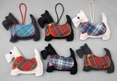 Scottie Dog Christmas Ornament, Black Scottie Ornament, Angus #needlefeltingtutorials