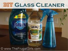 Homemade Glass Cleaner Recipe 1 cup Water cup White Vinegar 2 to 3 drops Dawn Dish Soap Empty Spray Bottle Combine water, white vinegar, and dawn dish soap in an empty spray bottle, and… that's it! You've just made Homemade Glass Cleaner! Homemade Cleaning Products, Cleaning Recipes, Natural Cleaning Products, Cleaning Hacks, Cleaning Supplies, Cleaning Solutions, Homemade Glass Cleaner, Cleaners Homemade, Diy Cleaners