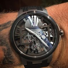 Ulysse Nardin Executive Skeleton Tourbillon on bro @watch_peace wrist