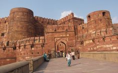 the Agra fort in North India!