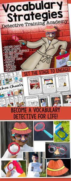When students are reading, they will come across many unknown words. Why not jump on the opportunity for them to increase not only their vocabulary, but strengthen their reading comprehension and critical thinking skills too? Vocabulary Strategies Detective Training Academy is about building the skills needed to crack the code to unknown words with 24 practical vocabulary strategies. Did I mention it is also fun and engaging? $